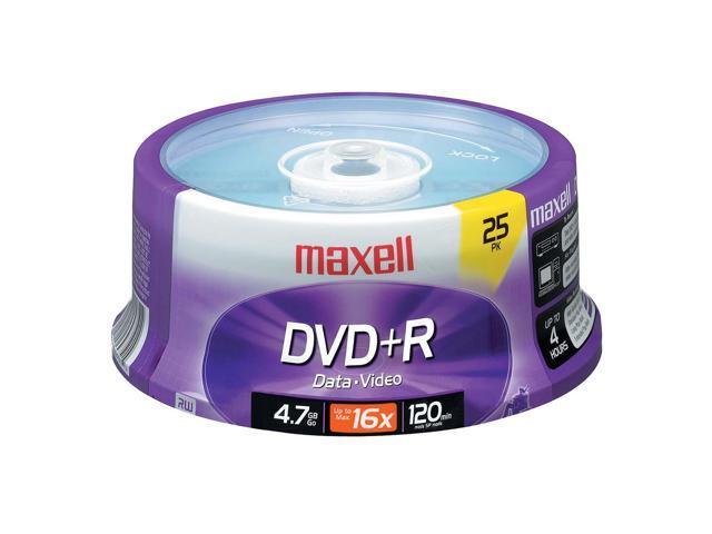 maxell 4.7GB 16X DVD+R 25 Packs Disc Model 639011