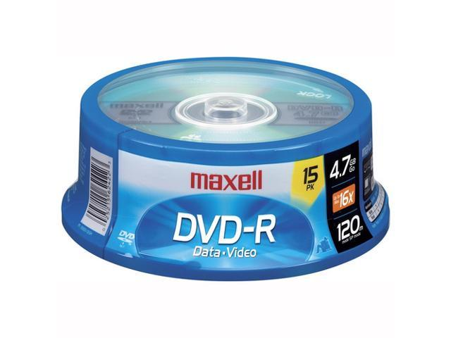 maxell 4.7GB 16X DVD-R 15 Packs Disc Model 638006