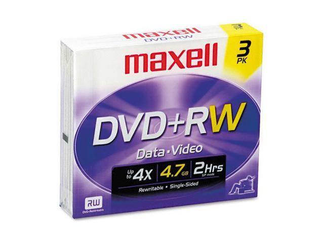 maxell 4.7GB 4X DVD+RW 3 Packs Media Model 634043