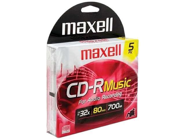 maxell 700MB CD-R 5 Packs Media Model 625132