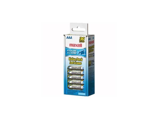 Maxell LR03 36CL AAA Gold Series Alkaline Battery Retail Pack - 36 Pack