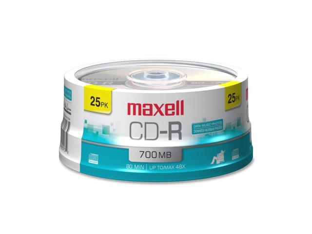 maxell 700MB 48X CD-R 25 Packs Media Model 648445