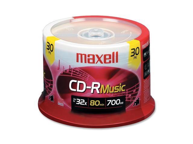 maxell 700MB 32X CD-R 30 Packs 32x CD-R Digital Audio Media Model 625335