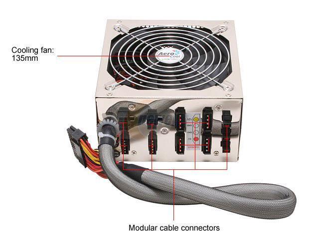 AeroCool ZERODBA S620 620W ATX12V / EPS12V SLI Certified CrossFire Ready Modular Power Supply