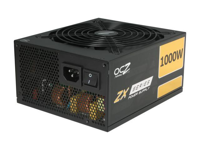 PC Power & Cooling ZX Series OCZ-ZX1000W 1000 Watt (1000W) 80 Plus Gold Fully-Modular Active PFC ATX PC Power Supply Performance Grade