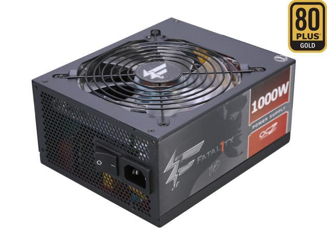 PC Power & Cooling Fatal1ty Gaming Series OCZ-FTY1000W 1000 Watt (1000W) 80 Plus Gold Semi-Modular Active PFC ATX PC Power Supply Performance Grade