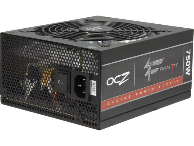PC Power & Cooling Fatal1ty Gaming Series OCZ-FTY750W 750 Watt (750W) 80 Plus Bronze Fully-Modular Active PFC ATX PC Power ...
