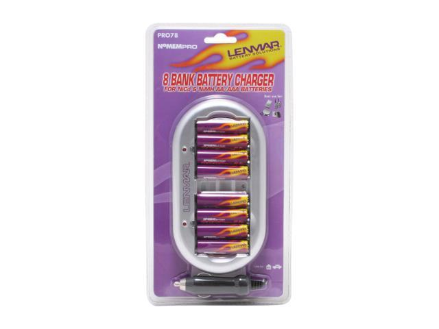 LENMAR PRO78 8-pack 2000mAh AA Ni-MH Rechargeable Batteries & Charger Kit