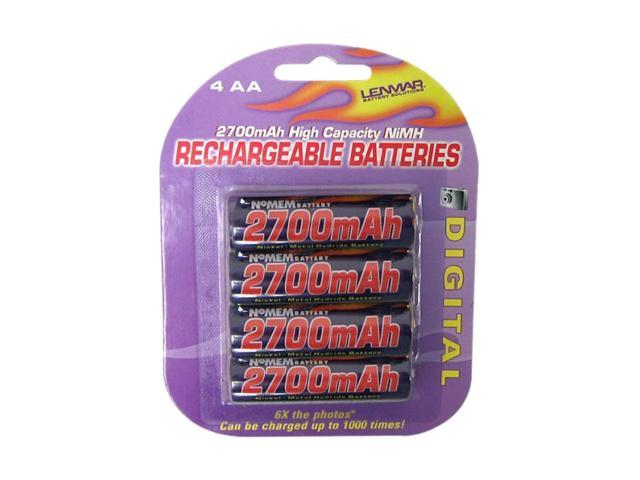 LENMAR PRO427 4-pack 2700mAh AA Ni-MH Rechargeable Batteries