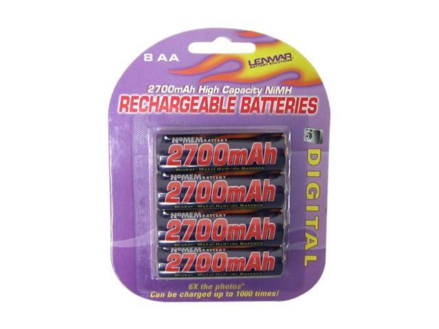 LENMAR PRO827 8-pack 2700mAh AA Ni-MH Rechargeable Batteries