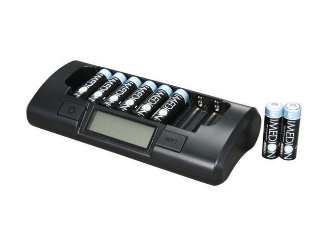 POWEREX MH-C801D8AAI Rechargeable Batteries & Charger Kit