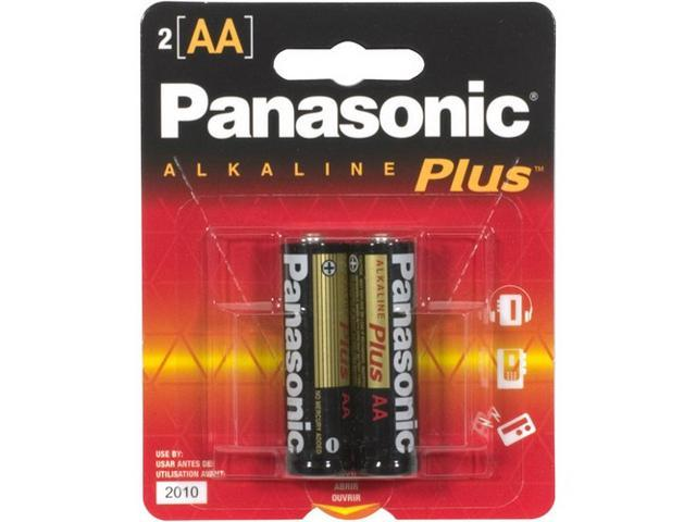 Panasonic Plus AA Alkaline General Purpose Batteries 2 Pack