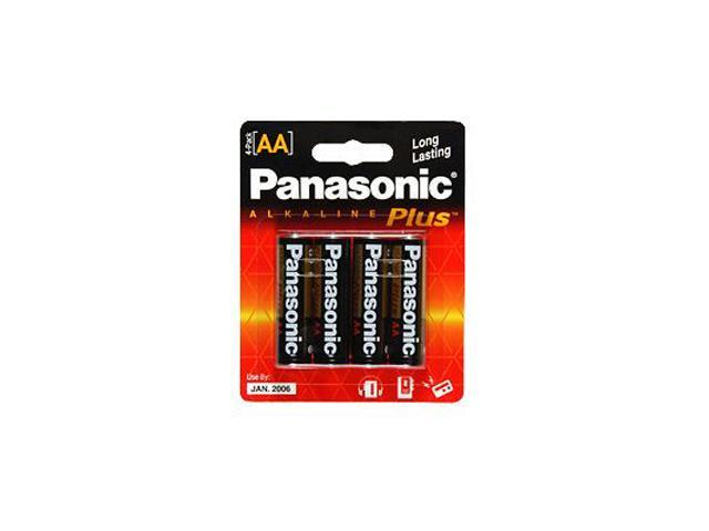 Panasonic AM-3PA/4B 4-pack AA Alkaline Plus Batteries