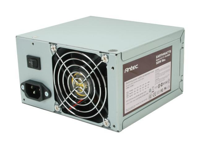 "Antec earthwatts EA500 500W Continuous Power ATX12V v2.2 80 PLUS Certified Active PFC ""Compatible with Core i7/Core i5"" Power Supply"