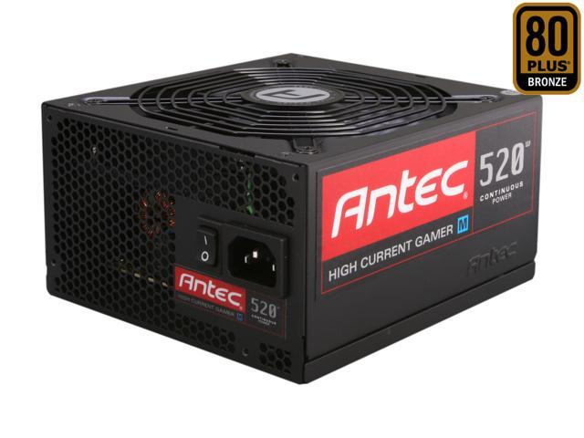 Antec HCG M Series HCG-520M 520W ATX12V / EPS12V SLI Ready CrossFire Ready 80 PLUS BRONZE Certified Modular Active PFC Power ...