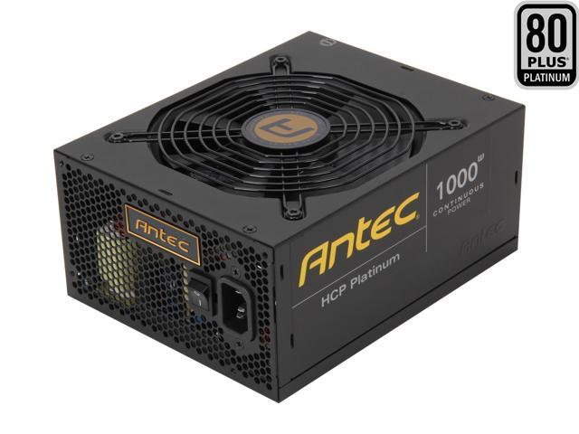 Antec HCP Platinum HCP-1000 1000W ATX12V V2.32 / EPS12V V2.92 SLI Ready CrossFire Ready 80 PLUS PLATINUM Certified Full Modular Active PFC Power Supply - Intel Haswell Fully Compatible