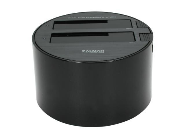 "Zalman ZM-MH200 U3 Plastic 2.5"" & 3.5"" Black/White USB 3.0 Dual Docking station support USB 3.0 Raid and GPM"