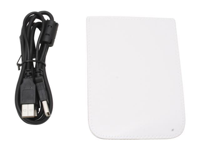 "Mapower Map-OT21CSJ-1W Aluminum 2.5"" White USB 2.0 & eSATA Mini Pocket-Size External Enclosure"