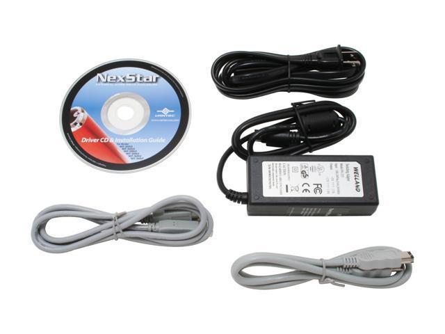 """VANTEC NST-360UF-BK Aluminum 3.5"""" USB & 1394 External Enclosure"""