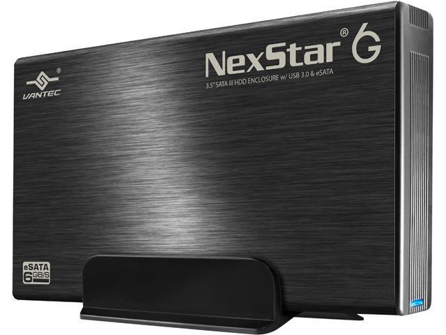 """VANTEC NST-366SU3-BK 3.5"""" Black SATA I/II/III USB 3.0 3.5"""" SATA 6Gb/s to USB 3.0/eSATA HDD Enclosure"""