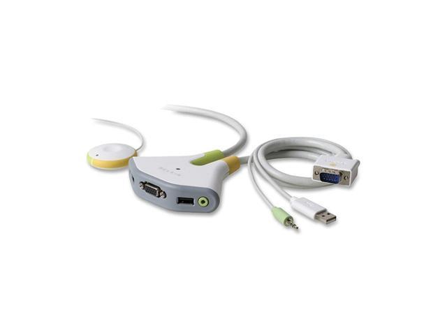 BELKIN Flip F1DG102U 2 Port USB KVM w/ Audio