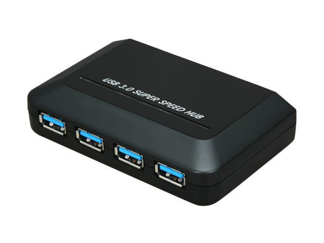 GWC HU3140 USB 3.0 SuperSpeed 4-Port Hub with 4 Amp External Power Supply