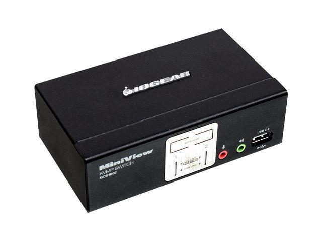 IOGEAR GCS1802 2 Port KVMP Switch with USB 2.0 Hub and Audio