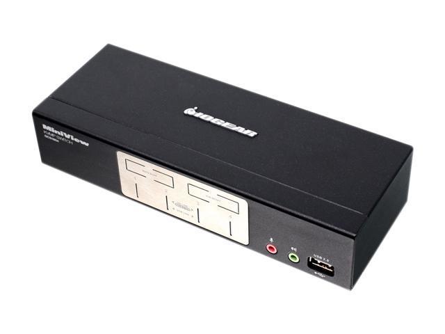 IOGEAR GCS1804 4 Port KVMP Switch with USB 2.0 Hub and Audio