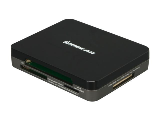 IOGEAR GUH287 3-Port USB 2.0 Hub and 45-in-1 Card Reader
