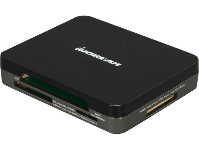 IOGEAR GUH287 3-Port USB 2.0 Hub and 45-in-1 Card Reader