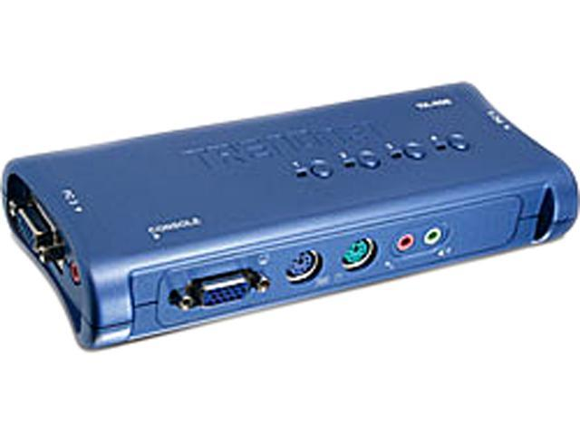 TRENDnet TK-408K 4-Port PS/2 KVM Switch Kit w/Audio