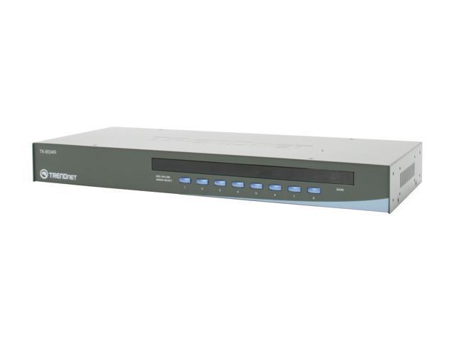 TRENDnet TK-804R 8-Port USB+PS/2 Rack Mount KVM Switch w/ OSD