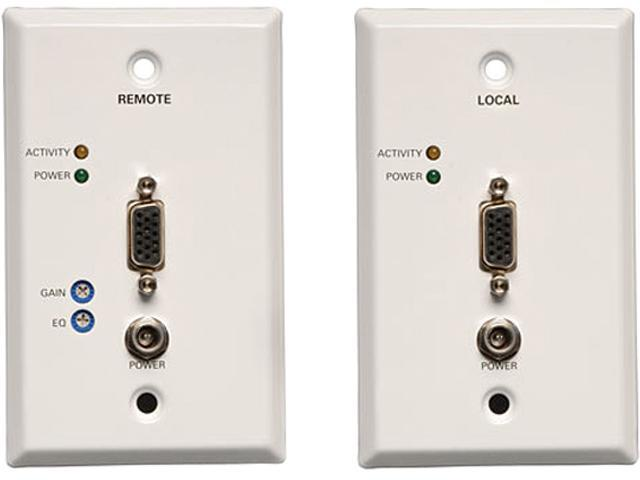 Tripp Lite VGA over Cat5 (RJ45 Type) Extender Wallplate Kit (Transmitter + Receiver) B130-101-WP-1