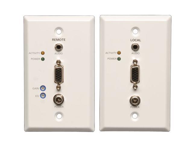 Tripp Lite B130-101A-WP-1 VGA+Audio over Cat5 (RJ45 Type) Extender Wallplate Kit (Transmitter + Receiver)
