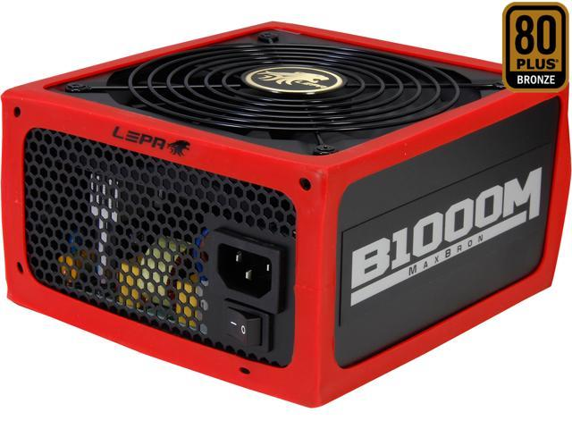 LEPA MaxBron B1000-MB 1000W ATX CrossFire Ready 80 PLUS BRONZE Certified Active PFC Power Supply