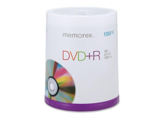 memorex 4.7GB 16X DVD+R 100 Packs Disc Model 05621