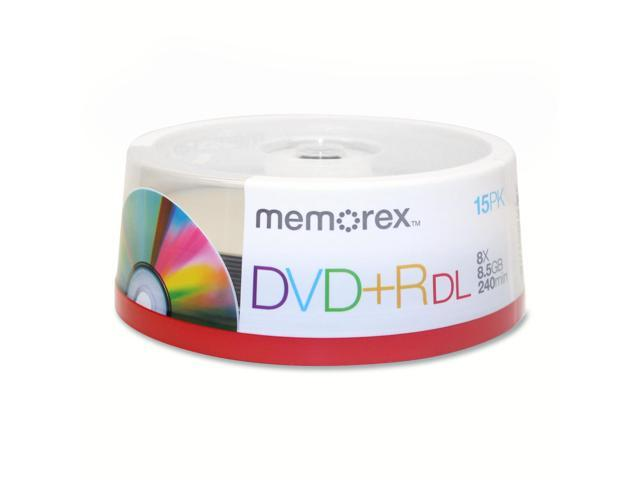 memorex 8.5GB 8X DVD+R DL 15 Packs Disc Model 05715