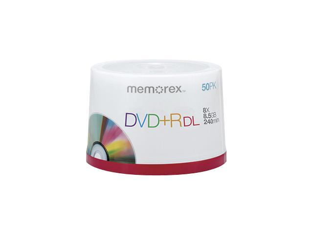 memorex 8.5GB 8X DVD+R DL 50 Packs Disc Model 05732 - OEM