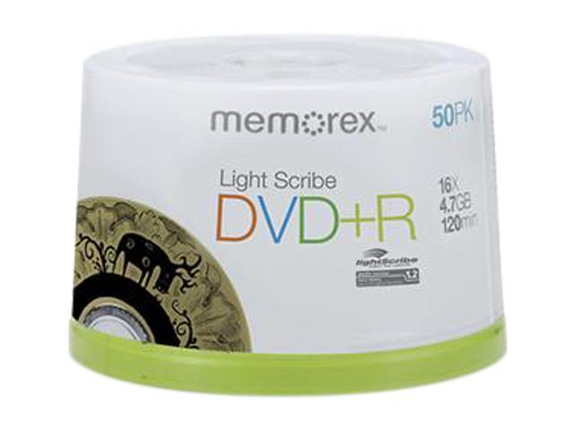 memorex 4.7GB 16X DVD+R LightScribe 50 Packs Disc Model 05431