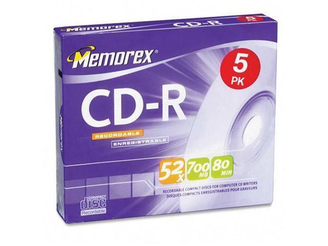 memorex 700MB 52X CD-R 5 Packs Disc Model 04508
