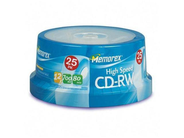 memorex 700MB 12X CD-RW 25 Packs High Speed Disc Model 03424