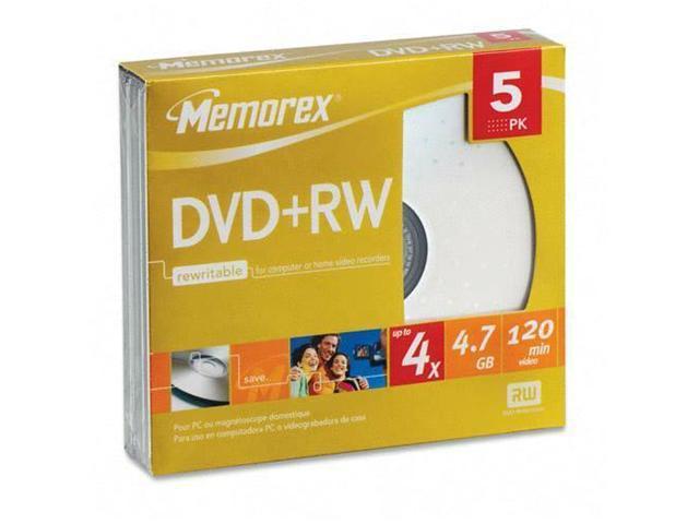 memorex 4.7GB 4X DVD+RW 5 Packs Disc Model 05514