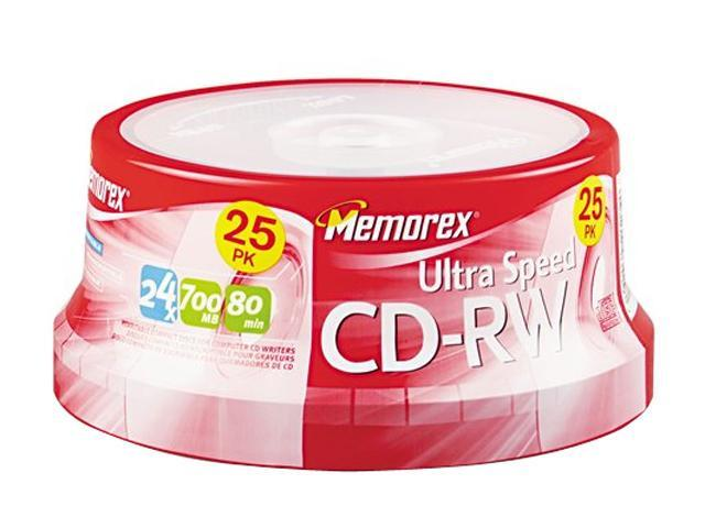 memorex 700MB 24X CD-RW 25 Packs Disc Model 03429