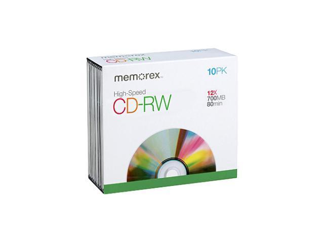 memorex 700MB 12X CD-RW 10 Packs Media Model 3417