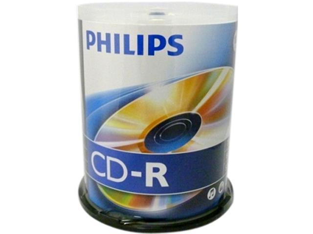 PHILIPS 700MB 52X CD-R Logo 100 Packs Spindle Disc Model D52N650