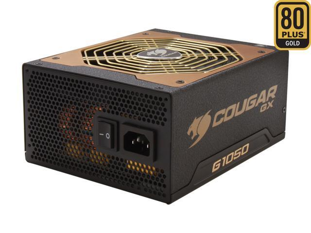 COUGAR COUGAR-GX1050 1050W ATX12V / EPS12V SLI Ready CrossFire Ready 80 PLUS GOLD Certified Yes, flexible cable management Active PFC Power Supply Haswell ready