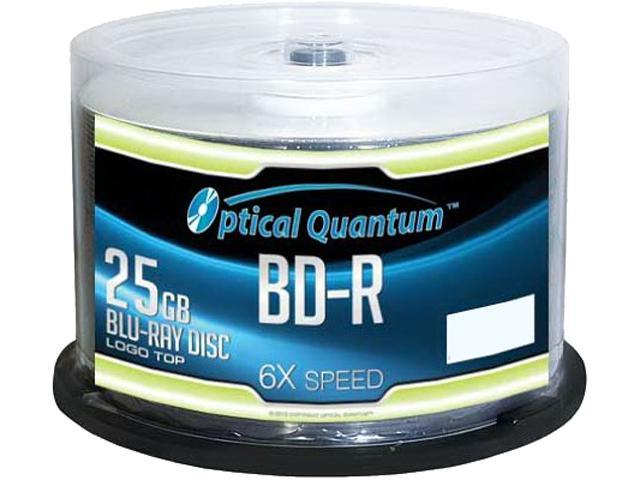 Optical Quantum 25GB 6X BD-R 50 Packs Blu-ray Media Logo Top Model OQBDR06LT-50