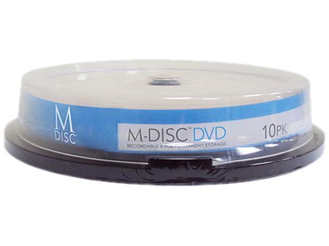 Vinpower Digital 4.7GB 4X DVD+R White Inkjet Printable 10 Packs M-DISC Archival Media Model MDDPR04WIP-10
