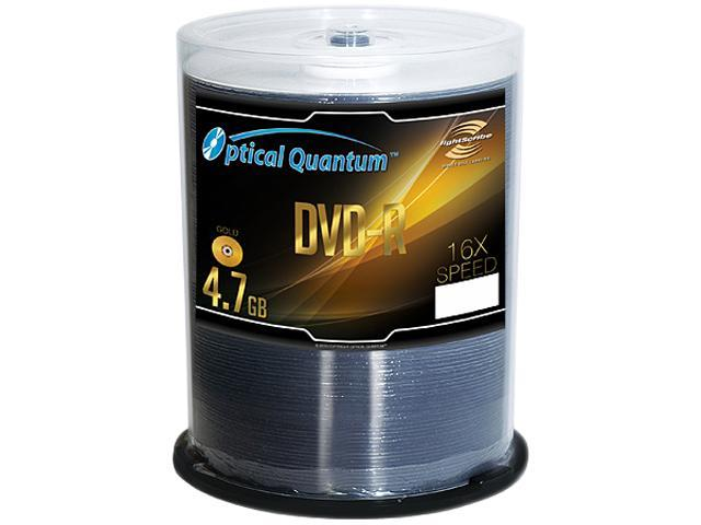 Optical Quantum 4.7GB 16X DVD-R LightScribe 100 Packs Disc Model OQDMR16LS