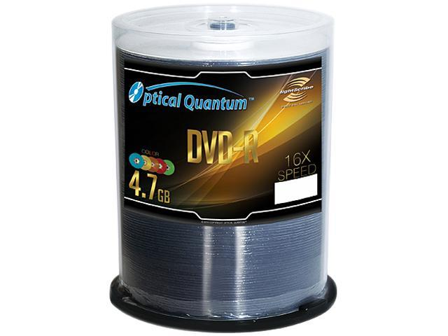Optical Quantum 4.7GB 16X DVD-R LightScribe 100 Packs Disc Model OQDMR16CRLS